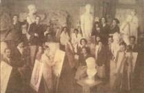 Cahide Tamer, estudiantes de la Academia de Bellas Artes, 1933