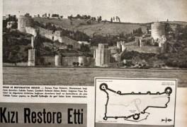 Cahide Tamer, Mualla Eyüboglu, Selma Emler, restauración de la Fortaleza Rumeli, 1959