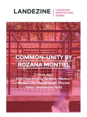 Rozana Montiel: Publicación Landezine, 2015.