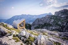 Špela Videčnik - OFIS Arhitekti + AKT II + Harvard GSD Students; Alpine Shelter on Skuta Mountain in Slovenia, 2015.