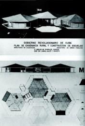 Matilde Ponce Copado,Escuela primaria rural, maquetas y planos, Cuba, 1959.