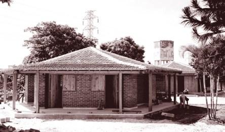 Matilde Ponce Copado,Escuela primaria rural, Fotografía de un aula, Cuba, 1959.