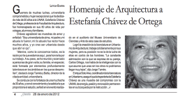 Estefanía Chávez Barragán - Homenaje FA UNAM, Gaceta UNAM, México, 2012.