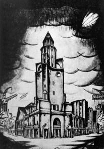 Tamara Katsenelenbogen, Reizman y Buryshkin. Competición para el Palacio del Trabajo, Moscú, 1922-23.