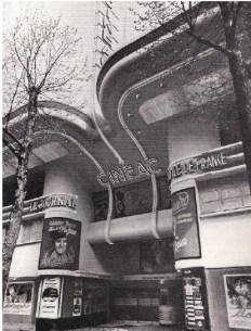 Adrienne Górska y Montaut. Cinéac Ternes, París. Fachada principal día, 1939.
