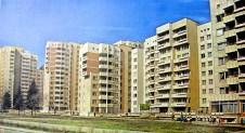 Tsvetana Ninova. Edificio de vivienda colectiva Beli Brezi, Sofía, Bulgaria, 1977-1989.