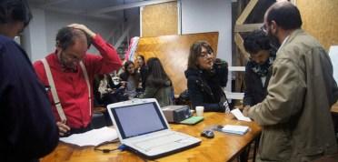 """Angela Perdomo. Workshops con participación de 5 facultades extrajeras sobre Arquitectura Humanitaria: """"Architecture & Human Rights"""", con Jorge Lobos, Taller Perdomo, 2015."""