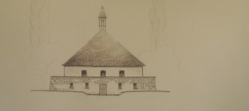 Eva Kruger. Diseño de una capilla para un cementerio.