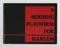 "Ghislaine Hermanuz. Libro ""A housing plataform for Harlem""."