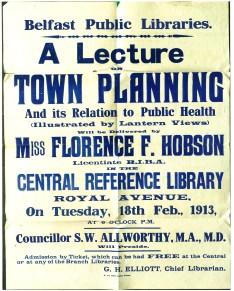 """Florence Fulton Hobson. Conferencia """"Urbanismo y su relación con la salud pública"""", 1913."""