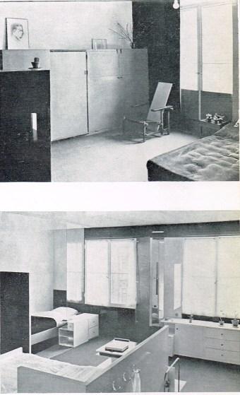 Truus Schröder y Gerrit Rietveld, interiores de la casa Birza