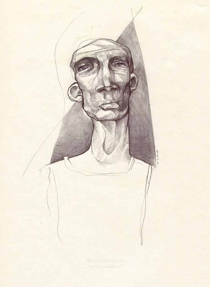 Dibujo de una Cara inventada