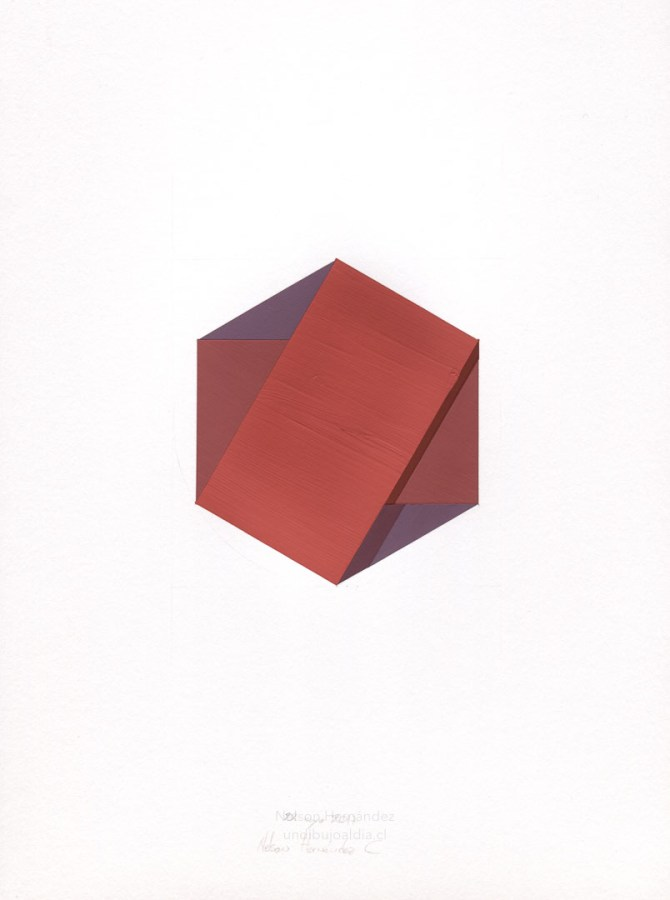 tres cuadrados burdeos