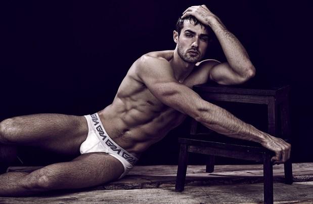 Paul Knops Garcon Model Underwear Model White Briefs David Jaems
