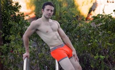 Nelson Marin Orange Baskit Contrast Trunks