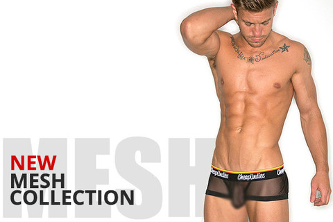 Cheap Undies Black Mesh Collection