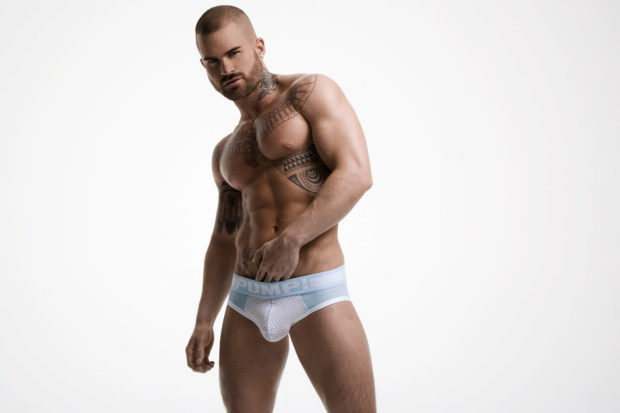 Pump Underwear Model Briefs
