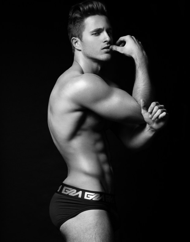 Model Thomas Keal by Fashion Photogrpaher Brian Jamie for Garcon Model Underwear sporting black brief #3