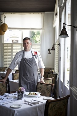 Picture of Chef Forrest Parker as Executive Chef of Old Village Post House