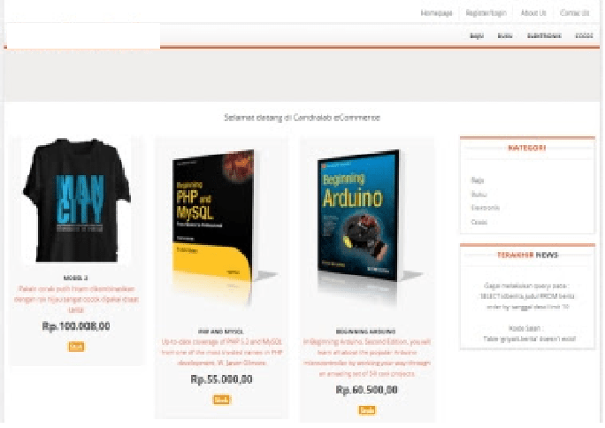 Source Code E-Commerce Berbasis PHP Mysql Gratis