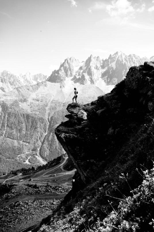 contemplation dans les montagnes de chamonix