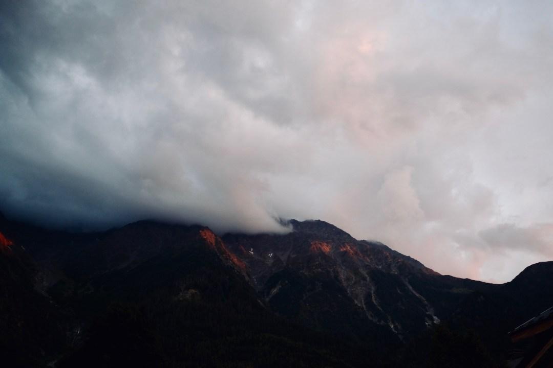 Les montagnes de chamonix