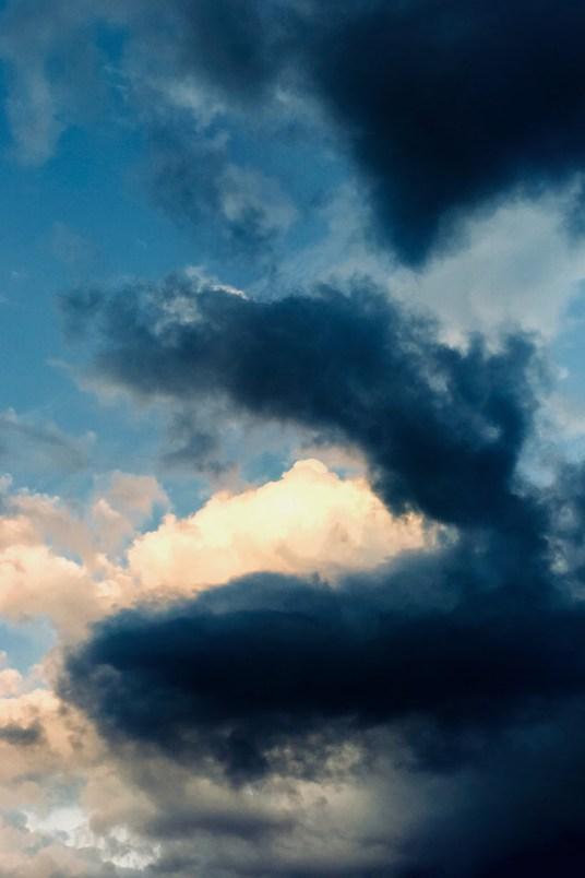 Nuages du ciel de chamonix