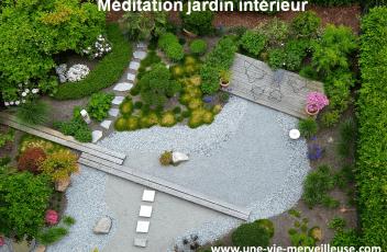 Méditation jardin intérieur