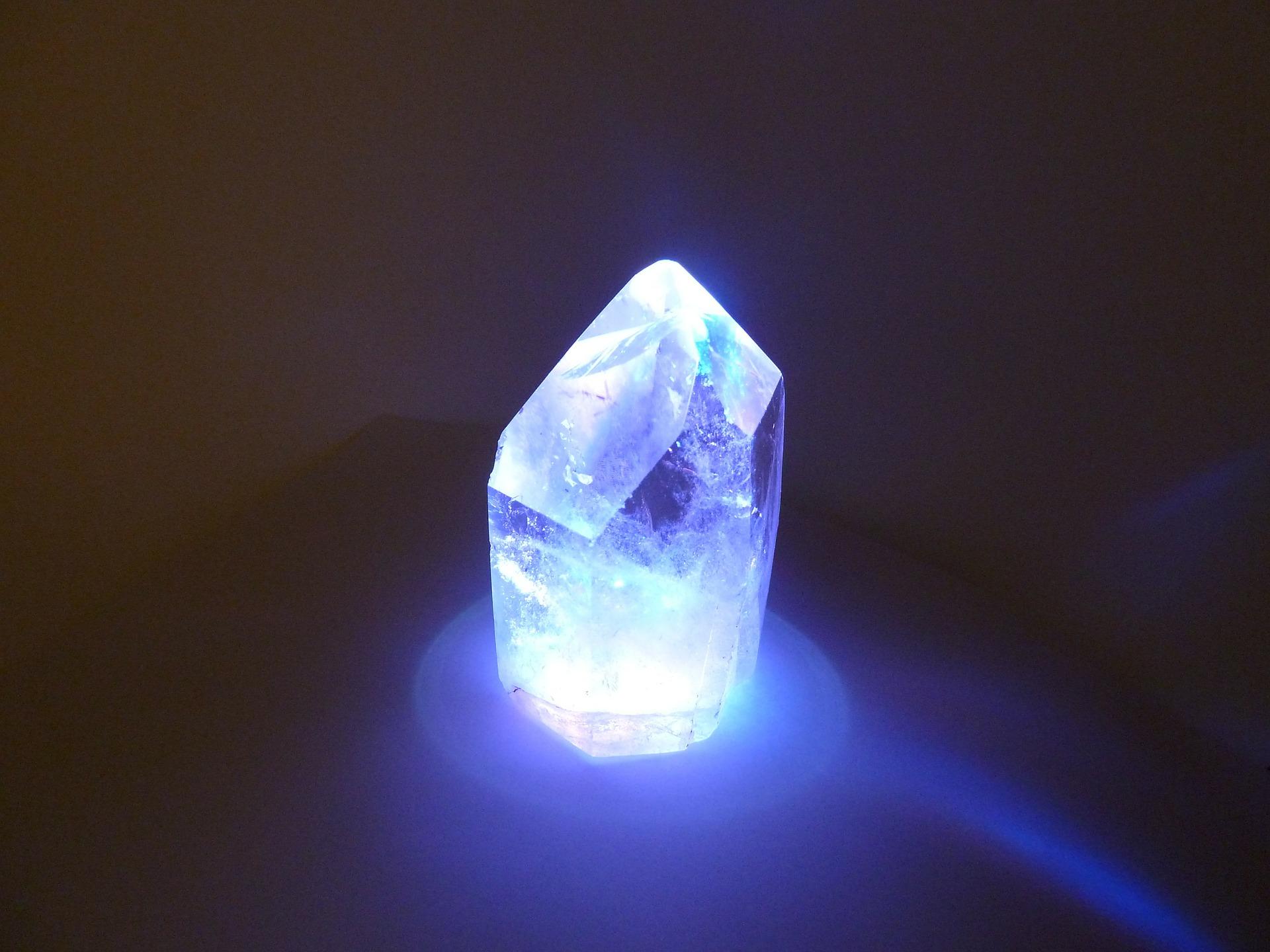 activation cristal de lumière