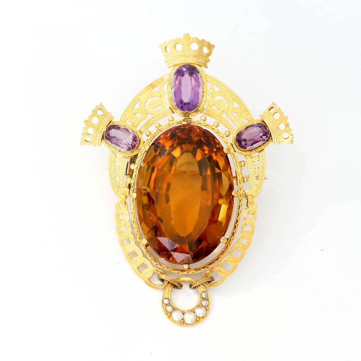 birthstone-november-citrine-victorian-brooch