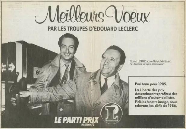 Annonce presse voeux 1986