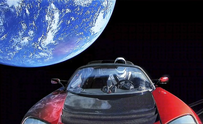 tesla starman photo