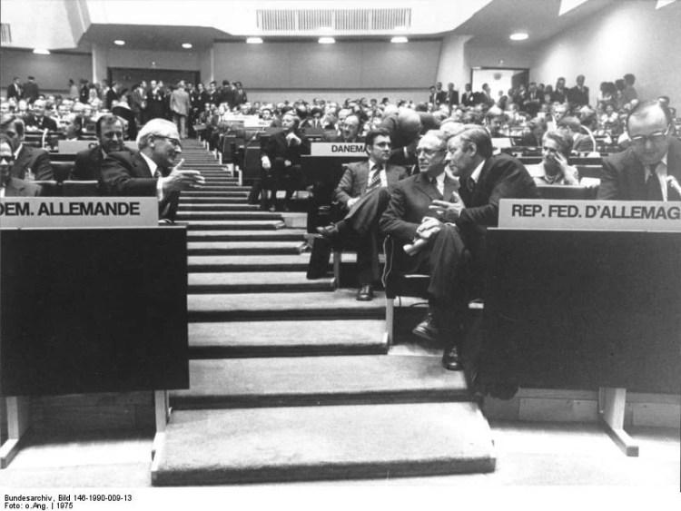 accords d'Helsinki le 1er août 1975