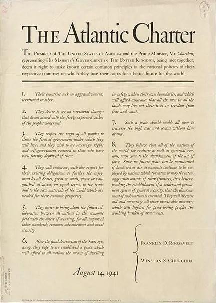 charte de l'atlantique