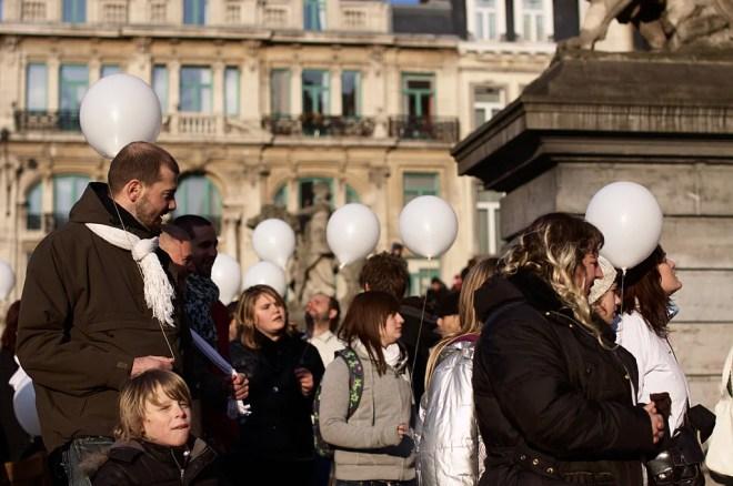 marche blanche bruxelles photo