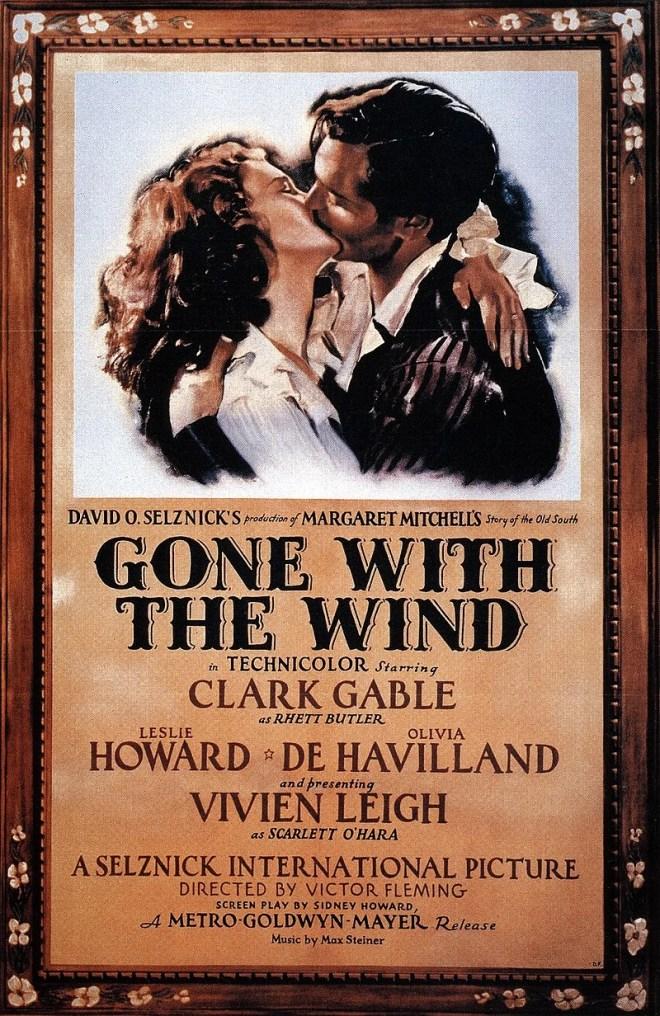affiche originale du film autant en emporte le vent qui a reçu 8 oscars le 29 février