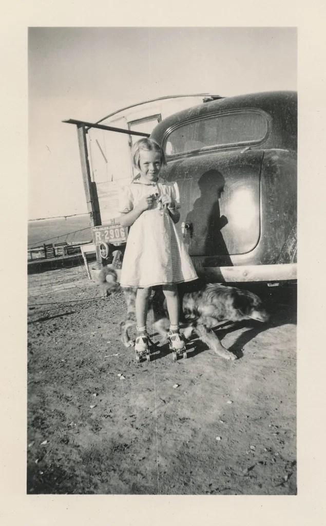 old roller skate photo