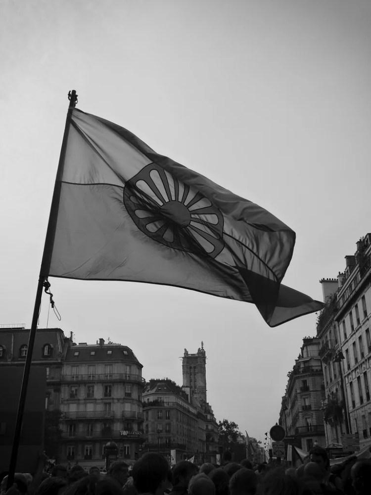 drapeau rom photo