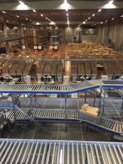 Le nouveau centre logistique a ouvert l'année dernière sur 47 000 m2 - tous les photos P.C.