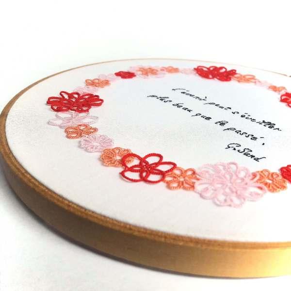 Couronne de fleurs Hanami personnalisée