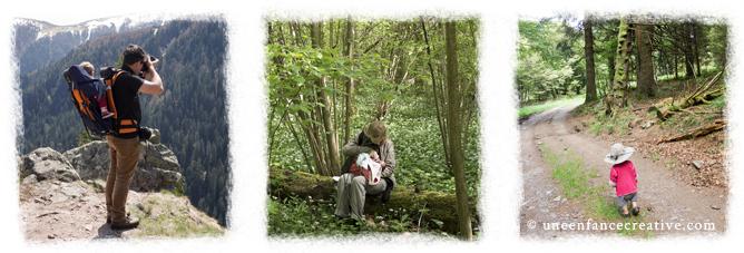 Portrait famille nature du blog Une enfance créative