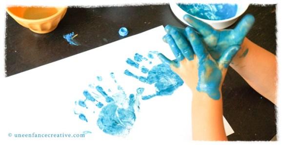 Atelier peinture empreinte main