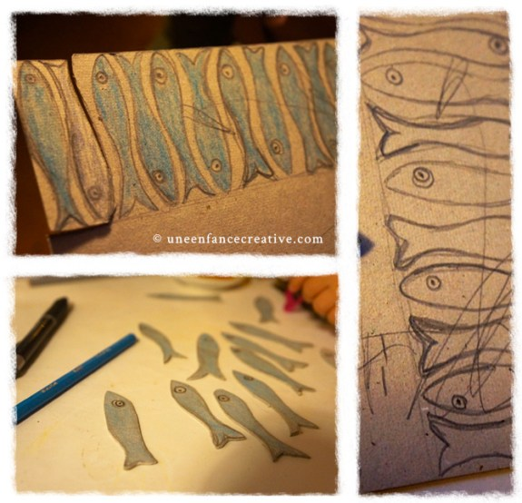 Fabrication dinette Sardine en carton