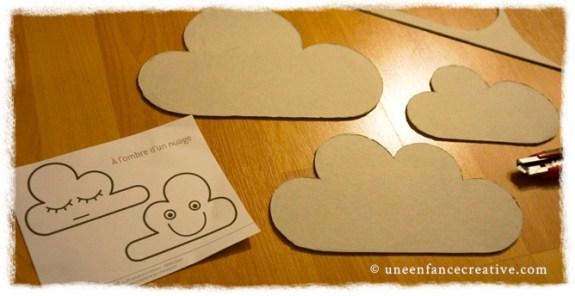 Fabrication de nuages en carton