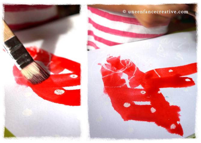 Ajouter de l'encre rouge, couleur du champignon