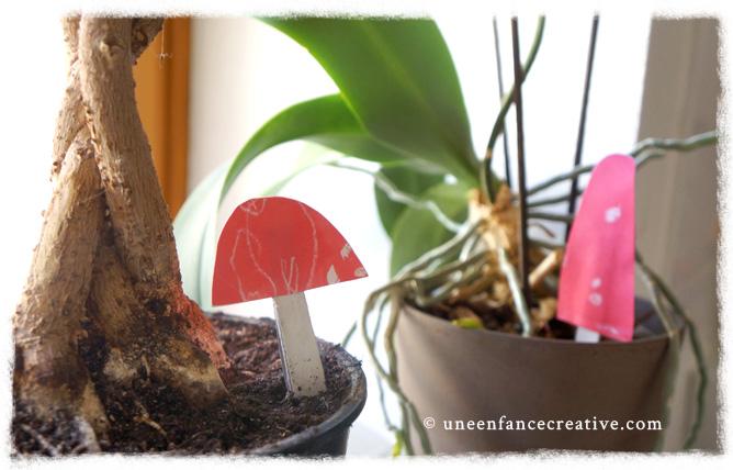 Décoration champignons papier