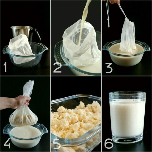 Tutoriel : Réaliser son lait de soja Maison. Disposer le sac à lait végétal dans le saladier. Verser le lait. Fermer le lien Presser pour retirer un maximum de jus. Récupérer la pulpe restante, appelée okara, pour d'autres délicieuses recettes... Vous obtenez environ 1L de lait. Mettre au frais avant de déguster ou de réaliser de belles recettes !