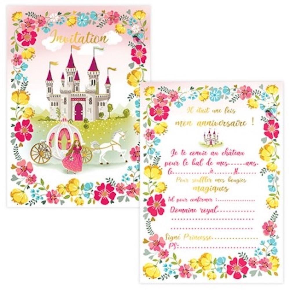 cartes invitations princesse