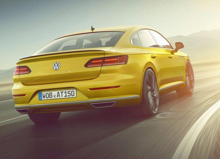 Volkswagen Arteon dynamique arrière r-line jaune