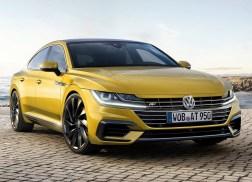Volkswagen Arteon statique avant r-line jaune 1